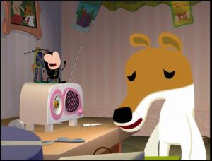 Olive and her pet Flea, Fido. COPYRIGHT 20th Century Fox 1999